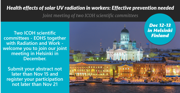 Helsinki meeting advert Nov 15 deadline
